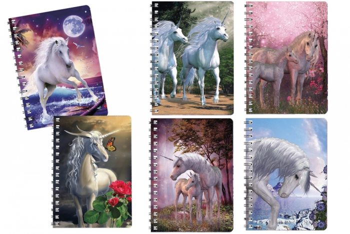 3D lenticular Notebook - Unicorns