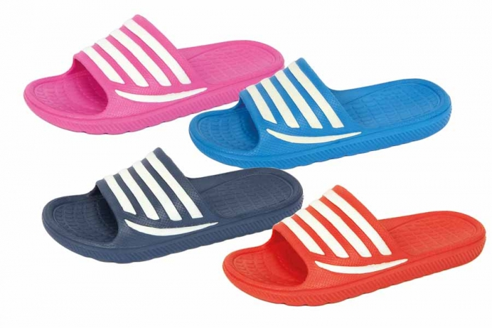 Sliders - Childs, Stripe, Sizes 10 - 2