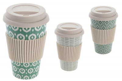 Travel Mug - Bamboo Fibre, with Lid