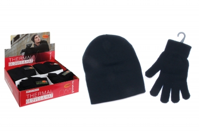 Mens Thermal Hat & Gloves