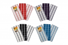 Tea Towels - Pack of 3, Large Check