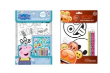 Peppa Pig/Emoji Colouring Set