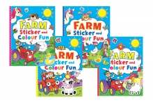 Farm Colouring & Sticker Activity Book