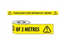 'Please Keep A Safe Distance' Floor Marking Tape