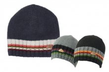 Mens Beanie Hat with Stripe