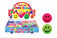 Smiley Bouncy Ball - Light Up
