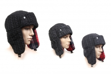 Mens Hat - Knitted Trapper