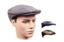 Mens Hat - Patchwork Flat Cap