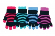 Older Girls Gloves - Stripey
