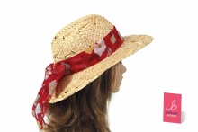 Lady's Straw Hat, Floral Band