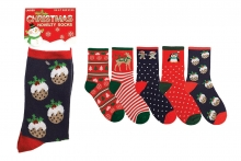 Ladies Socks - Novelty Christmas