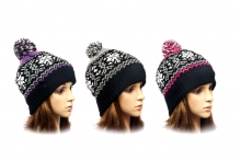 Ladies Hat - Fairisle, Bobble