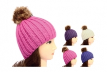Girls Hat - Chunky Knit