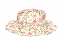 Ladies Floral Hat - Floppy Brim