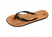 Ladies Flip Flops, Wood - Sizes 3-8