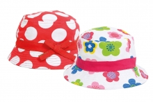Girls Flower/Spotted Hat