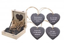 Slate Heart - In Wood Display Case