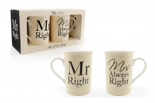 Mug Set - Mr Right/Mrs Always Right