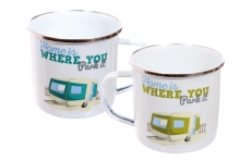 Mug - Enamel, Home Is Where