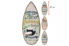 Wooden Wall Plaque, Surfboard