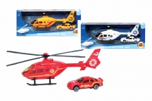 Helicopter & Car Set, Die Cast