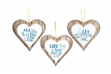 Seashore Heart Plaque