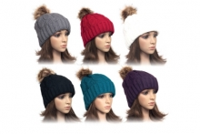 Hat - Ladies Cable Kit, Bobble