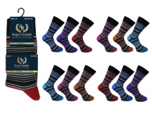 Socks - Mens Deluxe Striped