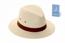 Hat - Mens Fedora, Brown Band