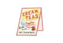 Magnet - Cream Tea Sign, Named
