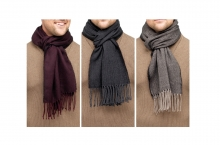 Men's Knitted Scarf - Herringbone