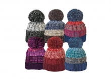 Unisex Hat - Bobble, Chunky Knit