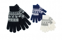 Ladies Gloves - Knitted Fairisle