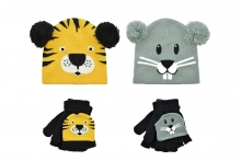 Child's Hat & Glove Set - Animal