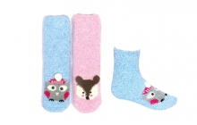 Ladies Slipper Socks - Animal