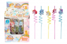 Unicorn Drinking Straws - Set of 3