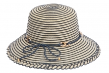 Ladies Deluxe Striped Hat
