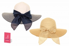 Ladies Wide Brim Hat - With Bow