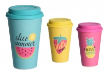 Travel Mug - Bamboo Firbre, Summer