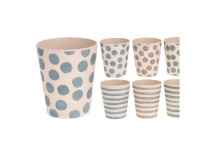 Cup - Bamboo Stripes/Spots