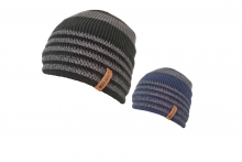 Mens 2 Tone Striped Beanie Hat