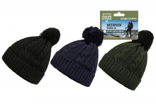 Mens Waterproof Bobble Hat
