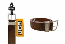Mens Belt - JCB, Brown Leather