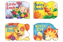 Animal Board Book - 4 Assorted