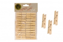 Wood Clothes Pegs - Bamboo