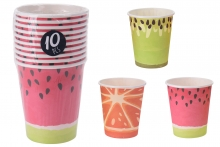 Paper cups (10) - Novelty Fruit Designs