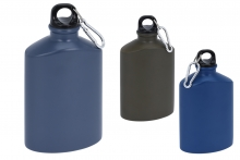 Aluminium Hip Flask with Clip