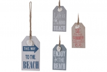 Beach Hanging Sign - Wood