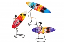 Metal Figure with Surfboard - Assorted