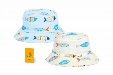 Younger Childs Hat - Fish Print